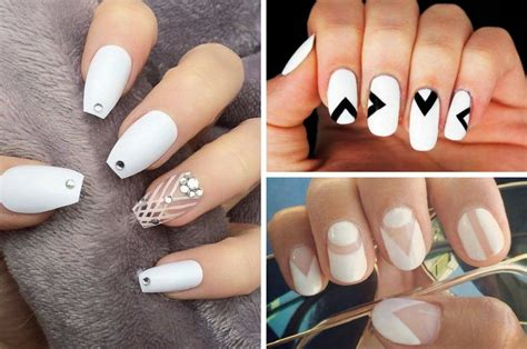 Nail Work by Stunning White Nail Designs Appropriate For Work