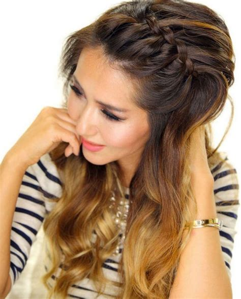 front braids hairstyles how to front french braid for oval face hairstyles for women