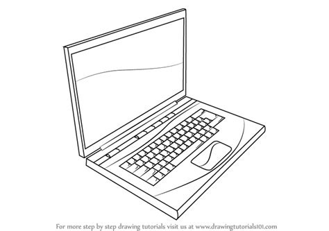 Drawing Computer by Learn How To Draw A Laptop Computers Step By Step