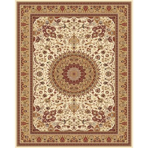 Shop Style Selections Ecklar Cream Rectangular Indoor Area Rugs 8