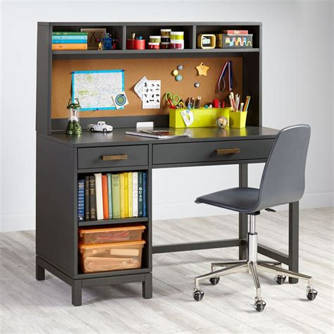 grey desk with hutch cargo kids desk grey the land of nod