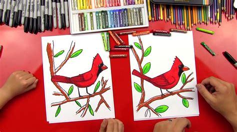 draw  cardinal art  kids hub
