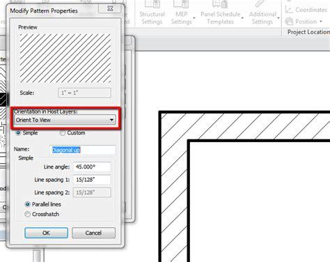 revit wall pattern not showing walls hatch in plan view autodesk community