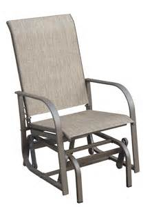 single glider chair outdoor royalcraft amalfi single seater glider chair