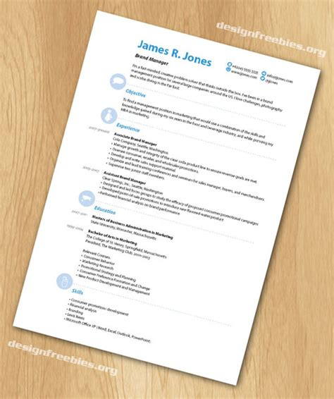 free indesign templates simple and clean resume cv with