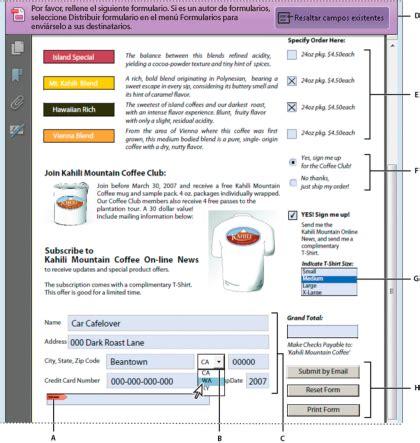 Creaci 243 N Y Distribuci 243 N De Formularios Pdf En Adobe Acrobat Adobe Acrobat Dc Form Templates