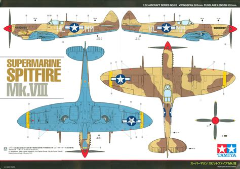 supermarine spitfire mk viii usaaf desert camouflage color profile and paint guide
