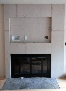 Fireplace Cement Board by Fireplace Cement Board Complete Fireplace