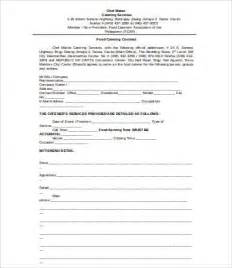 catering contract template word catering contract 9 free pdf word documents