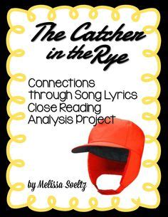 catcher in the rye theme song catcher in the rye quiz chapters 1 4 shorts first page