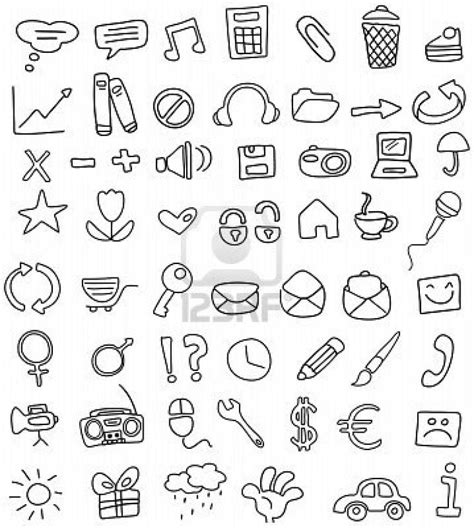 free doodle set icon simple yet doodles taken from http www 123rf