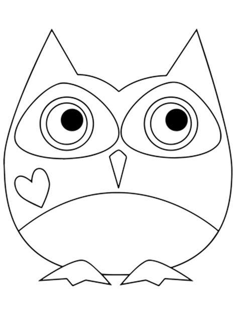 printable owl holding a card from template large coloriage hibou de la valentin coloriages 224