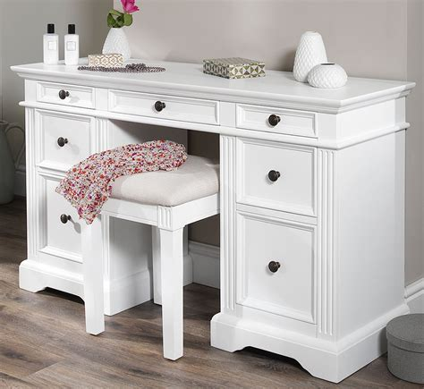 white vanity desk with drawers gainsborough white bedroom furniture bedside cabinets
