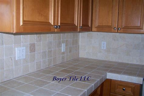 Kitchen Backsplash Tile Installation Boyer Tile Ceramic Tile Kitchen Countertops