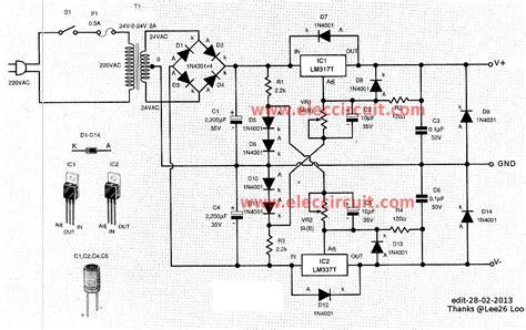 Kit Regulator Ac Dc 12v Ke Dc 9v Converter 0 60v dual variable power supply circuit by lm317 lm337