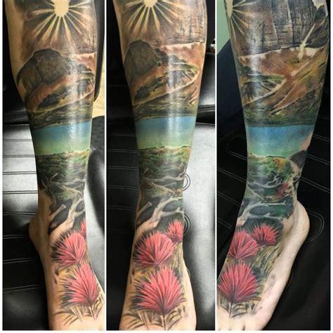 montana tattoos montana mountain mountaintattoo calfsleeve