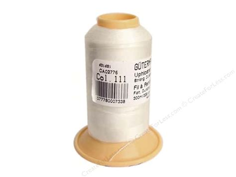 gutermann polyester upholstery thread 328 yd oyster