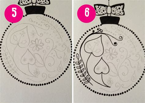 images of christmas cards to draw homemade cards how to draw bauble christmas cards