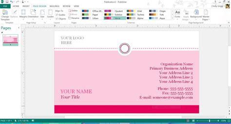 publisher business card templates free elegant upmarket business