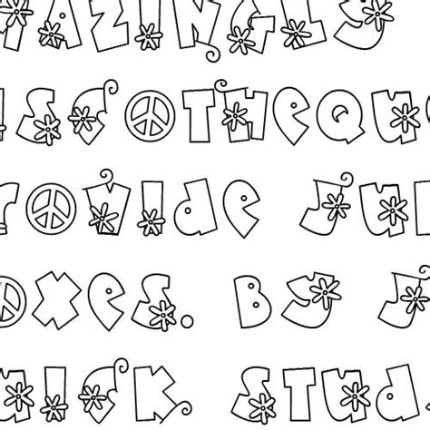 doodle flower font doodle flower power font