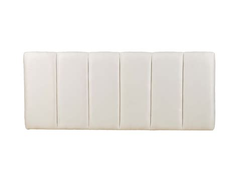 white plush headboard plush headboard visco therapy