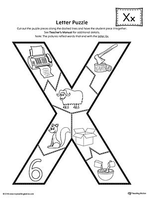 printable x worksheets letter x puzzle printable myteachingstation com