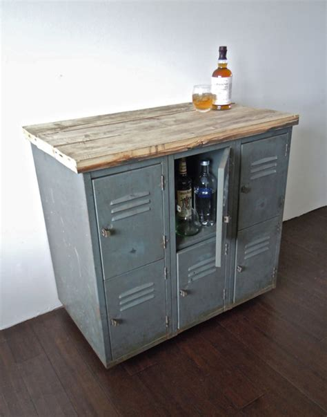 Casters For File Cabinets by Vintage Metal Lockers With Reclaimed Wood Top On Casters