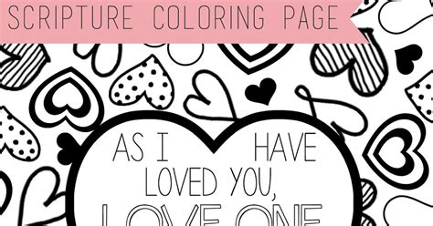 One Another Coloring Page Scripture Coloring Page Love One Another Lds Lane by One Another Coloring Page