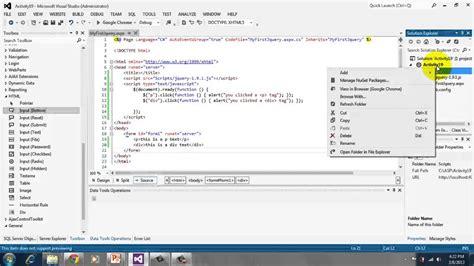 tutorial asp net for beginners beginner s tutorial for asp net 4 5 19 jquery youtube