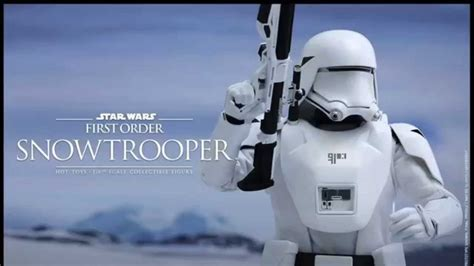 star wars the force 0241201160 star wars the force awakens hot toys first order snowtrooper first officer revealed youtube