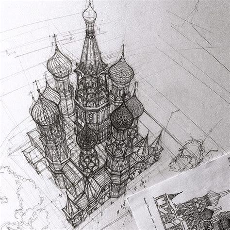 architektur skizzen zeichnen architectural sketches by adelina gareeva