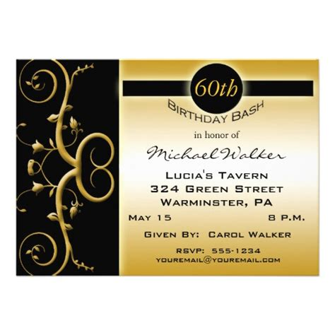 Invitation Letter For 60th Birthday 60th Birthday Invitations 5 Quot X 7 Quot Invitation Card Zazzle