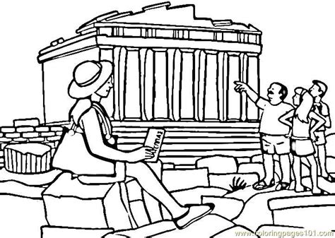parthenon template parthenon coloring page free sightseeing coloring pages