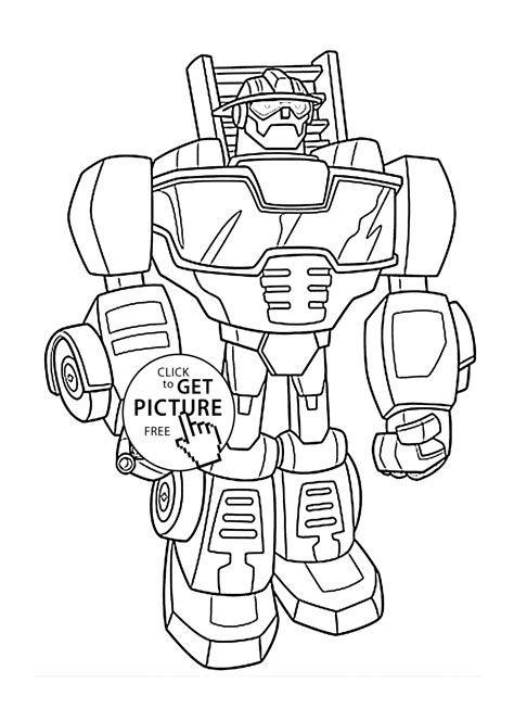 free coloring pages of rescue bots firetruck heatwave bot coloring pages for kids printable free
