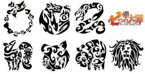 seven deadly sins tattoo design seven deadly sins symbols