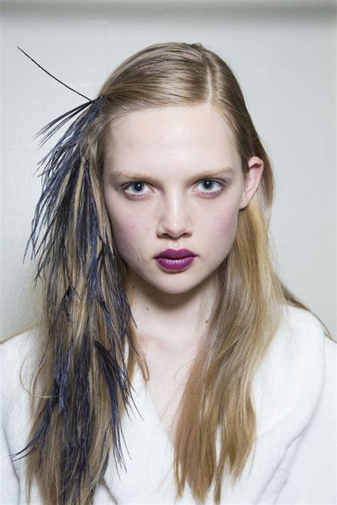 feathered front of hair two wedding worthy hair trends from nyfw 2014 sandals