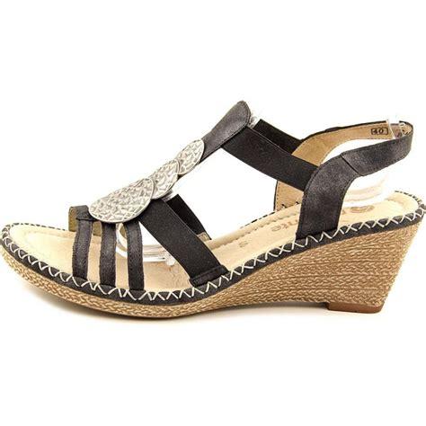 black wedges sandals remonte ursula leather black wedge sandal wedges