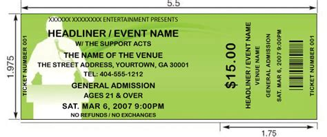 14 Event Ticket Templates Excel Pdf Formats Free Sle Event Tickets Template