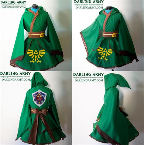 zelda design dress link legend of zelda hooded cosplay kimono dress by