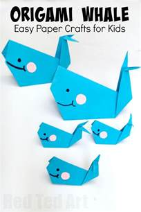 Diy Projects For Teens easy origami whale paper crafts for kids red ted art s