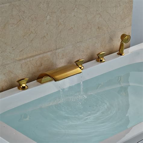 5 piece bathtub faucet buy hamilton deck mount triple handle 5 piece bathtub