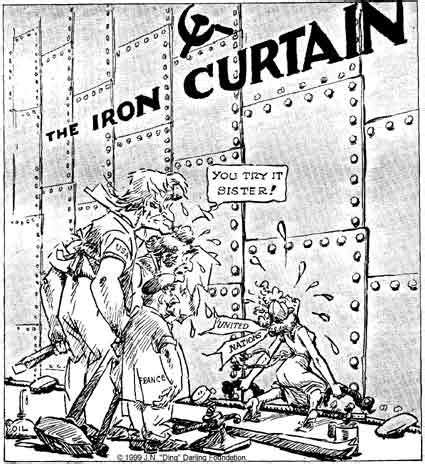 what did the iron curtain symbolize 4 11 13 cold war political cartoons miss schlegel s
