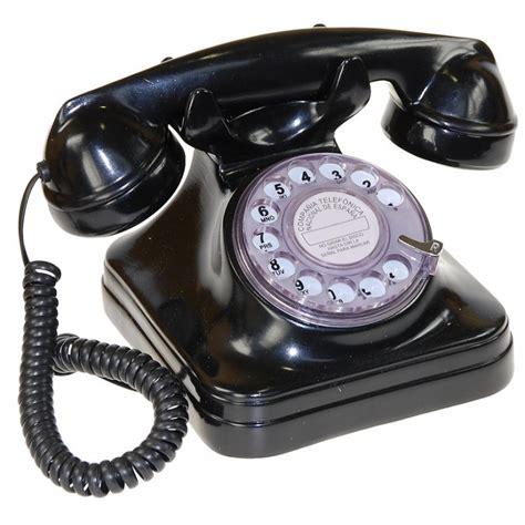 imagenes de telefonos retro tel 233 fono espa 241 ol sobremesa negro 17x15x14cm telefonos