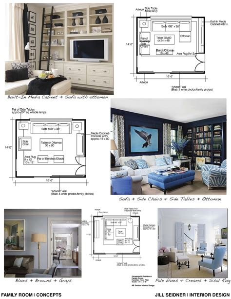 interior layout and furnishings crossword clue concept board for a family room den jill seidner