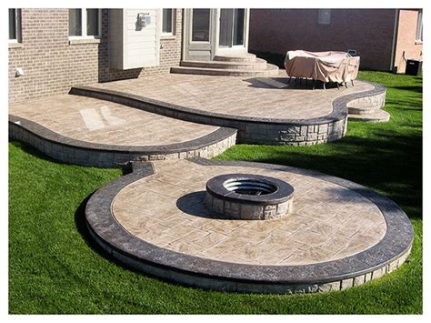 Concrete Patio Pit by Sted Concrete With Pit Outdoor Livin