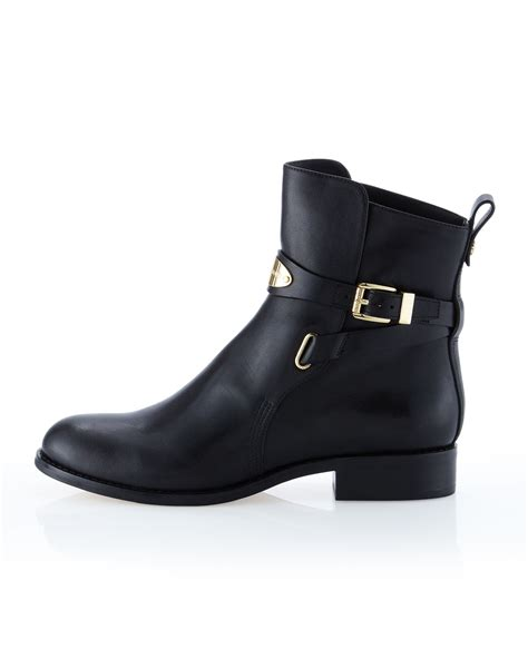mk boots michael michael kors arley leather ankle boot in black lyst