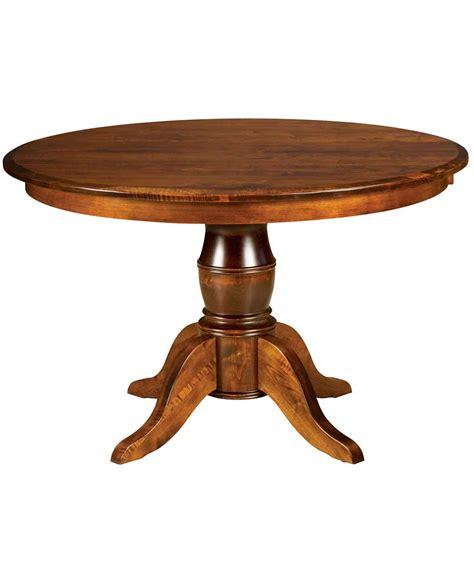 harrison single pedestal dining table amish direct furniture