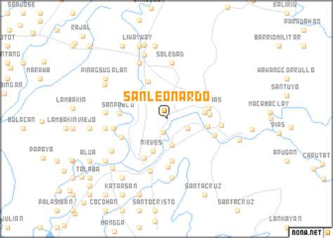 san jose nueva ecija map san leonardo philippines map nona net