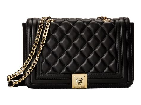 Moschino Quilted Crossbody Bag by Moschino Quilted Flap Vers Crossbody Bag In Black Lyst