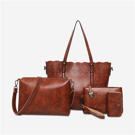 Femme Set set de sacs cuir pour femme avec maroquinerie